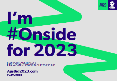 GetOnside Campaign for the 2023 Women's Football World Cup Bid in Australia