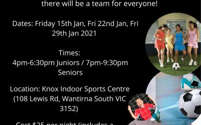Knox Indoor Social Nights – January 2021